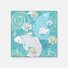 """Koi Fish Square Sticker 3"""" x 3"""""""