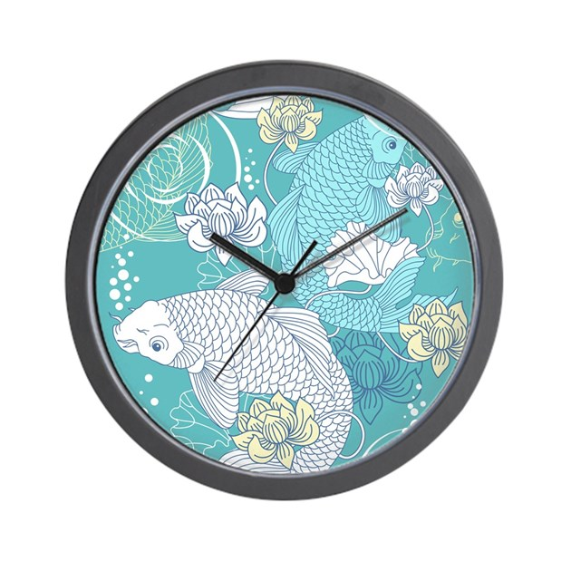 Koi fish wall clock by admin cp11748871 for Fish wall clock