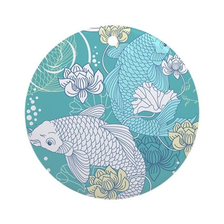 Koi fish round ornament by admin cp11748871 for Koi fish ornament