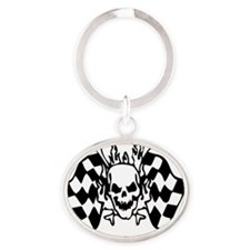 SKULL RACING™ Oval Keychain