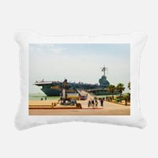 USS Lex_TGP1289 Rectangular Canvas Pillow