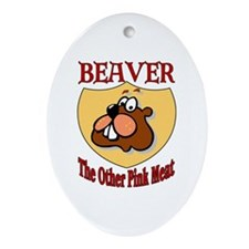 Beaver Meat Oval Ornament