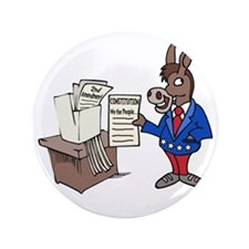 "Democrats at Work 3.5"" Button"