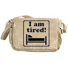 I Am Tired (Black) for light Messenger Bag