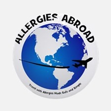 Allergies Abroad Logo Round Ornament