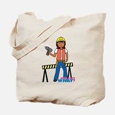 Construction Worker Woman Tote Bag