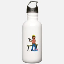 Construction Worker Woman Water Bottle