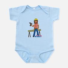 Construction Worker Woman Infant Bodysuit