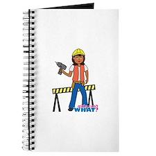 Construction Worker Woman Journal