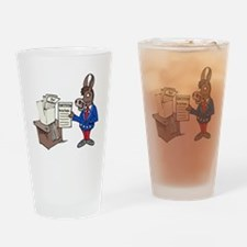 Democrats at Work - middle Drinking Glass
