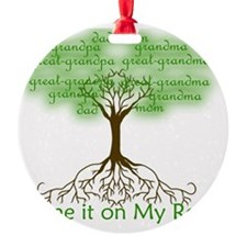 Blame it on My Roots Ornament