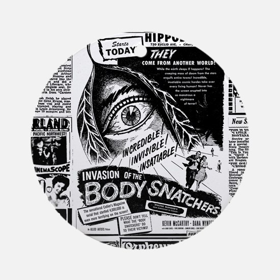 Movie Ad Body Snatchers Round Ornament