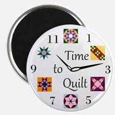 Time to Quilt Clock Magnet