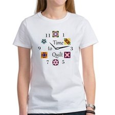 Time to Quilt Clock Tee