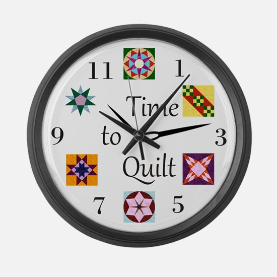 Time to Quilt Clock Large Wall Clock