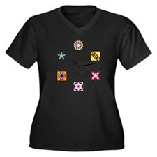 Time to Quil Women's Plus Size Dark V-Neck T-Shirt