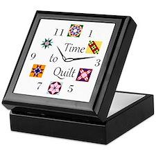 Time to Quilt Clock Keepsake Box
