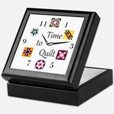 Time to Quilt Clock Keepsake Box