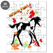 Autumn Paint - lettered Puzzle