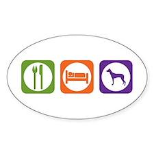 Eat Sleep PIO Oval Decal