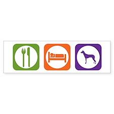 Eat Sleep PIO Bumper Bumper Sticker