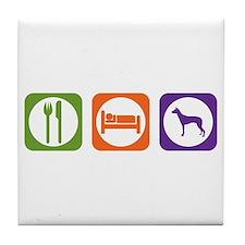 Eat Sleep PIO Tile Coaster