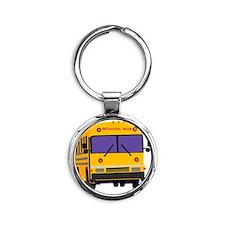 Bus_0014.gif Round Keychain