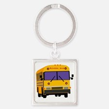 Bus_0014.gif Square Keychain