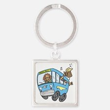 Bus_0002.gif Square Keychain
