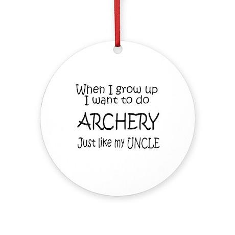 WIGU Archery Uncle Ornament (Round)