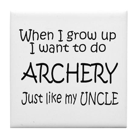 WIGU Archery Uncle Tile Coaster