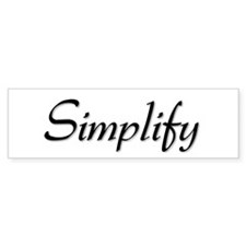 Simplify Bumper Bumper Sticker