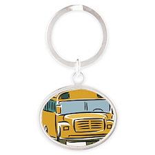 Bus_0025 Oval Keychain