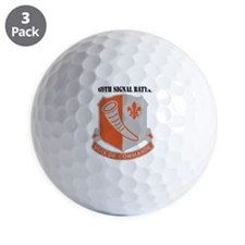 DUI - 69th Signal Battalion with Text Golf Ball