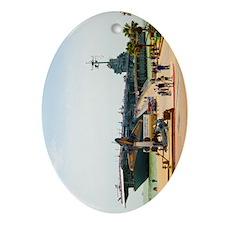 USS Lex v_TGP1289 Oval Ornament