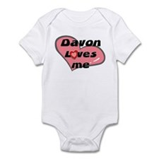 davon loves me  Infant Bodysuit