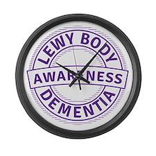 Lewy Body Dementia Awareness Large Wall Clock