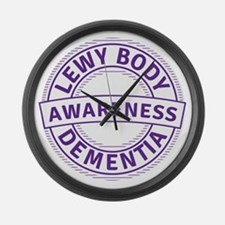 Lewy Body Dementia Awareness Large Wall Clock