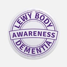 Lewy Body Dementia Awareness Round Ornament