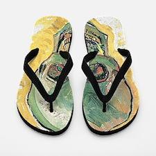 Van Gogh Skull Flip Flops