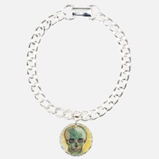 Van Gogh Skull Charm Bracelet, One Charm