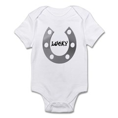 LUCKY SILVER HORSESHOE Infant Bodysuit