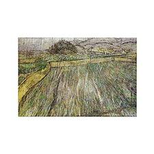 Vincent Van Gogh Rain Rectangle Magnet
