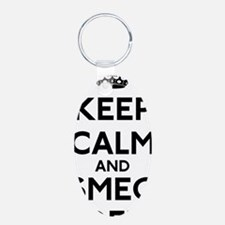 Keep Calm and Smeg Off Keychains