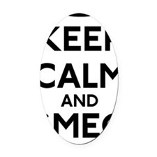 Keep Calm and Smeg Off Oval Car Magnet