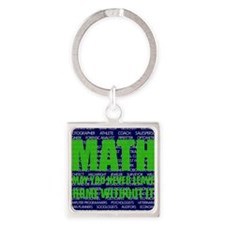 Careers in Math Square Keychain