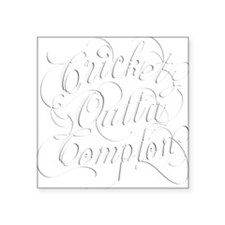 "Cricket Outta Compton Square Sticker 3"" x 3"""