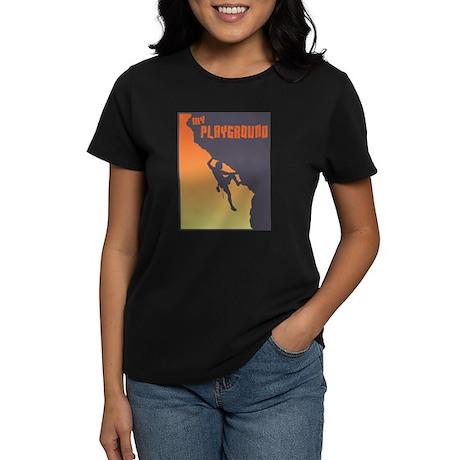 My Playground Rock Climbing Women's Dark T-Shirt