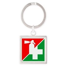 Fire/1st Aid Image Square Keychain
