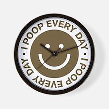 IPoopEveryDay_Brown Wall Clock